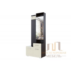 Вешалка с зеркалом 0,8м