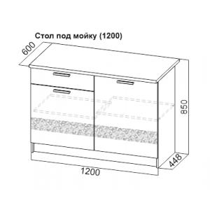 Стол под мойку 1200