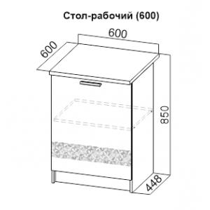 Стол рабочий 600